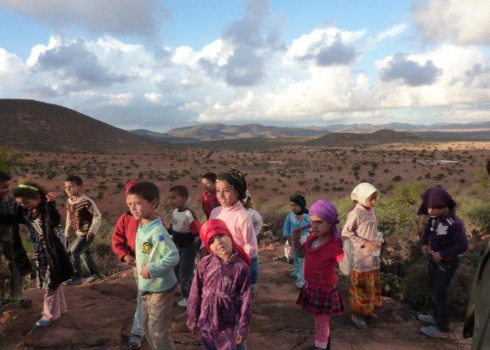 Les enfants du village d'Ait Ikhelf.